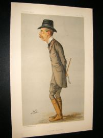 Vanity Fair Print 1889 Spencer Churchill, Chancellor